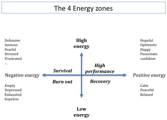 Zonas de Energia segundo Tony Schwartz