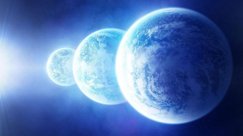Planetas alinhados.
