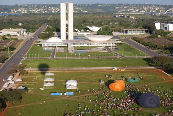Esplanada dos Ministérios vista do balão