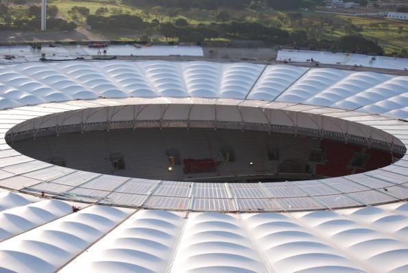 Cobertura do Estádio Nacional de Brasília, vista do balão