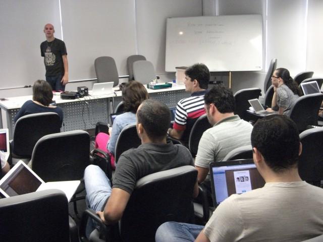 Semana passada, ministrando workshop de produtividade pessoal.