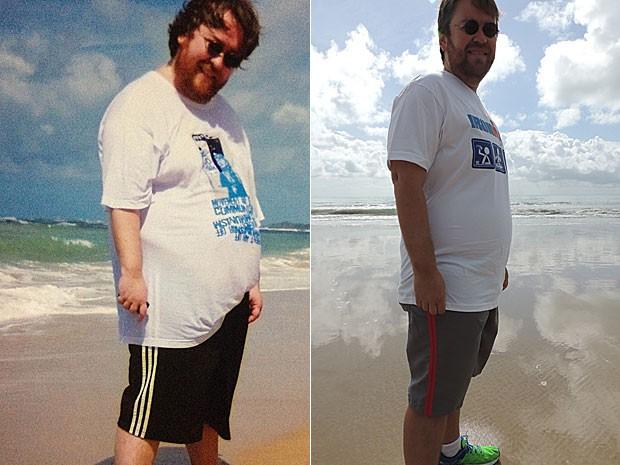 Marcus Andrey antes e depois da Dieta da Rede Social.