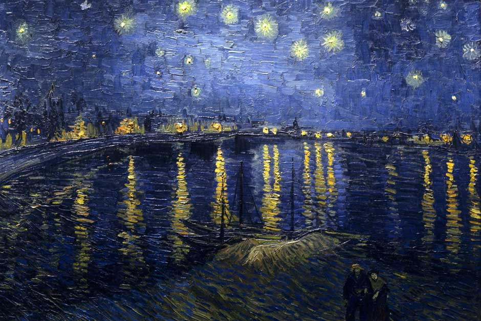 Starry Night Over the Rhone, de Vincent Van Gogh