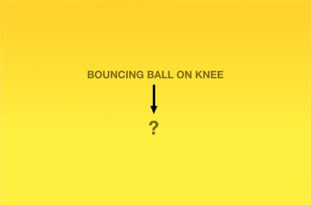 Quicar bola no joelho vai te levar a... ?