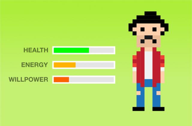 Estado emocional=Saúde + Energia + Força de vontade