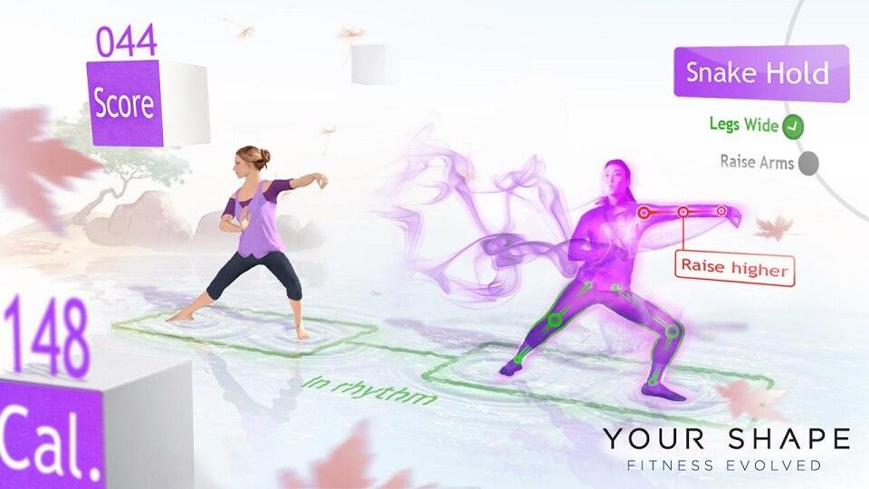 Yoga para iniciantes no videogame Xbox 360 Kinect