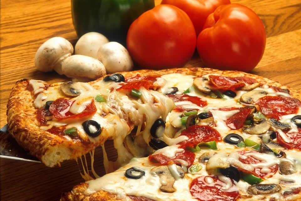 comida de verdade não é pizza