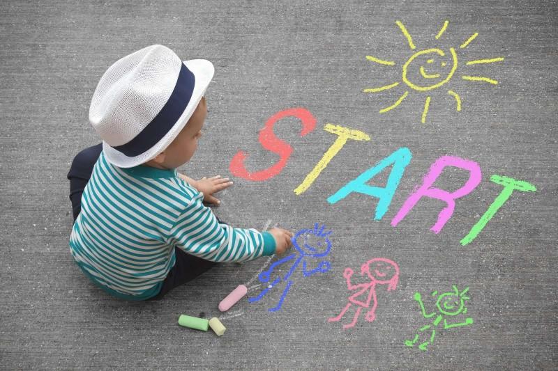 Criança começando a trabalhar com o que ama