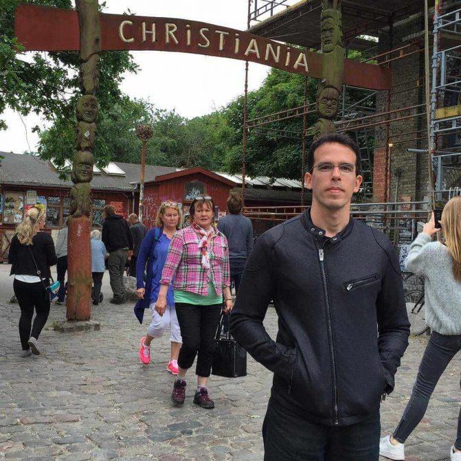 A cidade livre de Christiania em Copenhagen
