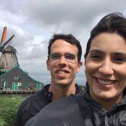 Moinhos de vento em Zaanse Schans