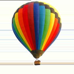 Logo do grupo Voar de balão